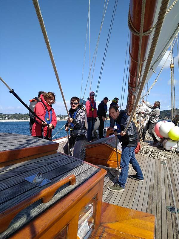 Manoeuvres à bord du bateau - association - Skeaf
